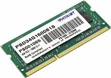 Модуль памяти Patriot PSD34G160081S DDR3 4Gb 1600MHz SO-DIMM