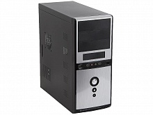 Корпус SuperPower MidiTower QoRi 3336 A11 черно-серый 350W USB Audio SATA ATX front panel metall